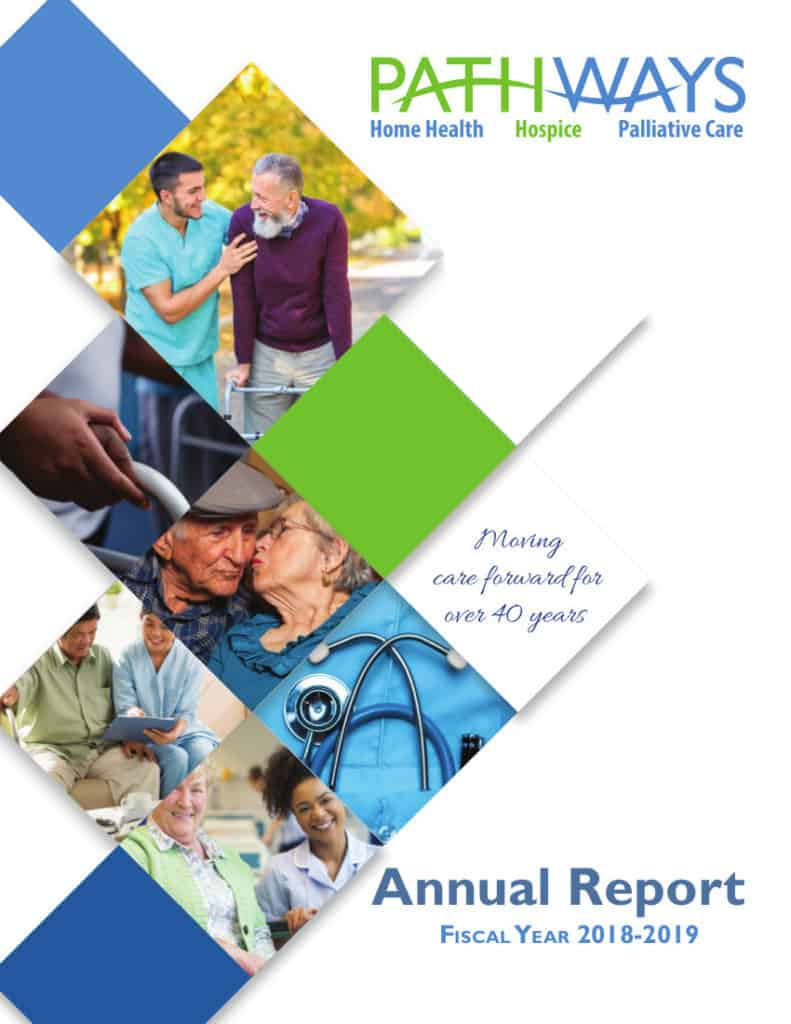 Cover of the Pathways Home Health and Hospice 2019 Annual Report